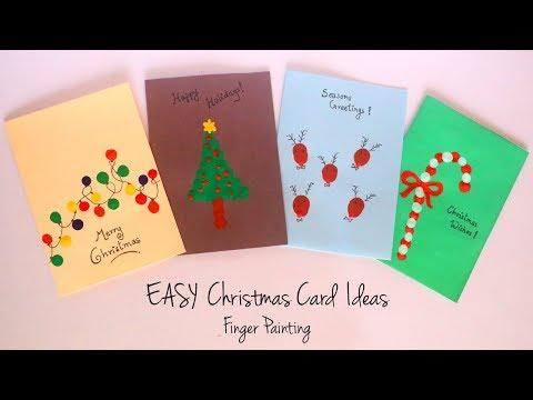 diy christmas card ideas easy finger painting handmade greeting cards kids craft ideas youtube diy christmas card ideas easy finger