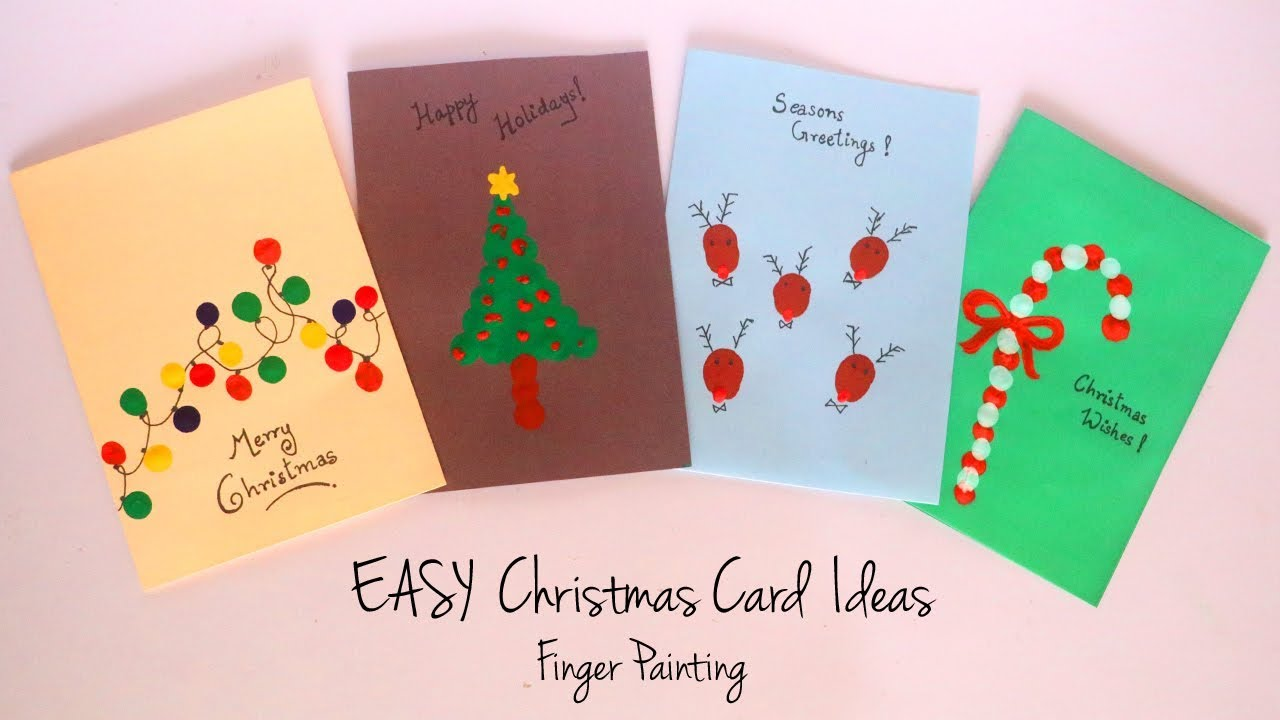 diy christmas card ideas easy finger painting handmade greeting cards kids craft ideas youtube diy christmas card ideas easy finger painting handmade greeting cards kids craft ideas