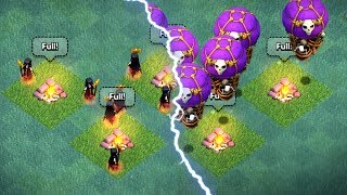 FIGHT TO THE DEATH!! - Clash Of Clans - ALL DROP SHIPS vs NIGHT WITCHES!