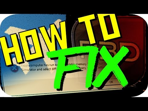 FSX/FSX Steam Edition/P3D | How to fix an Out of Memory Error! | OOM FIX