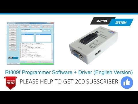 HOW TO DOWNLOAD FREE RT809F SOFTWARE + DRIVER (ENGLISH VERSION