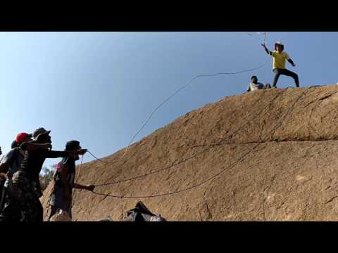 Rappelling @khajaguda with - Great Hyderabad Adventure Club