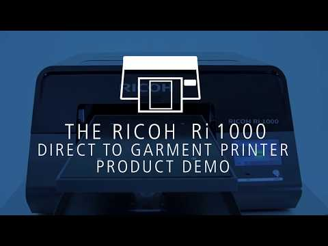 How To Print Clothing & Textiles With The Ri 1000 Direct To Garment Printer