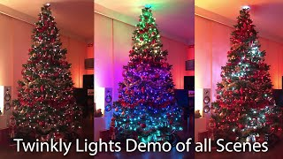 Twinkly light demo - All effects Christmas tree demonstration
