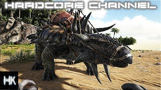 Ark Survival Evolved - EPIC Settings - Остров - Hardcore - Solo =4= В поисках анкилы