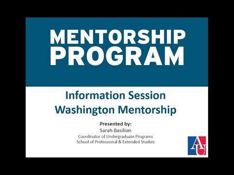 Washington Mentorship Program
