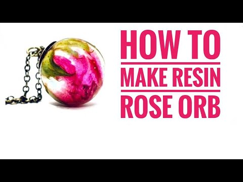 HOW TO MAKE RESIN ROSE ORB PENDANT. Alamould Moulds & Resin