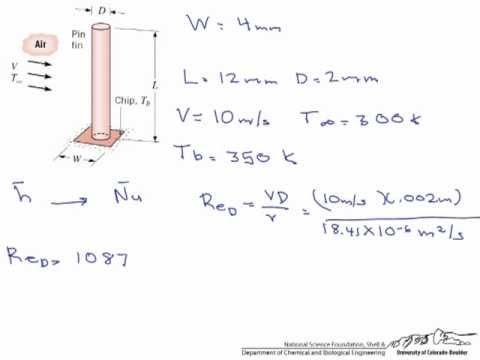 Heat Loss From A Cylindrical Pin Fin Youtube