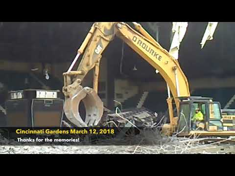 Cincinnati Gardens demolition March 12, 2018