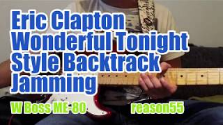 Eric Clapton Wonderful Tonight Style Backing Track Jamming