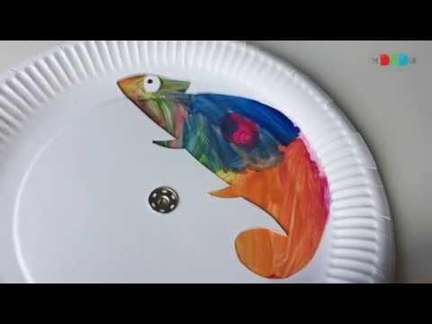 Colour changing chameleon craft for children - YouTube