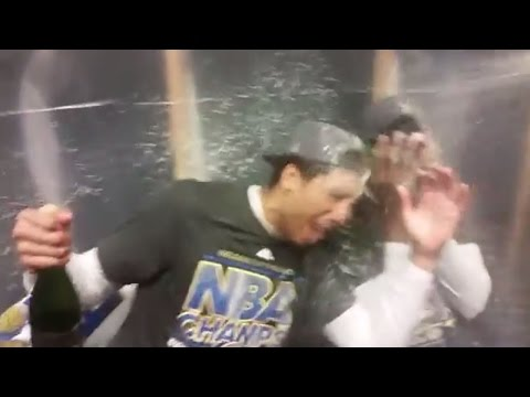 Warriors Rookie James Michael McAdoo After Winning the NBA Title