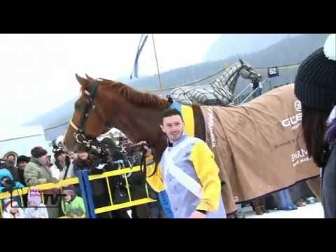 Grand Prix de St Moritz 2012 : Victoire de African Art, sous la selle de F. Di Fède