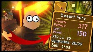 DESERT FURY *LEGENDARY* SWORD & WINTER OUTPOST FIRST RUNS | Roblox Dungeon Quest