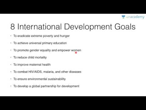Unacademy: Millennium development goals - UPSC Preparation - Roman Saini
