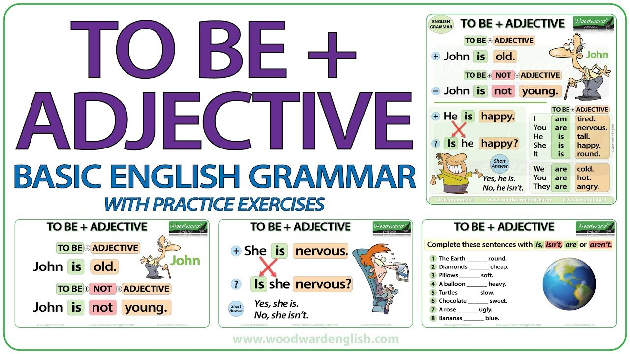 To Be + Adjective - Basic English Grammar Lesson