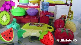 Mainan Anak Masak Masak - Cut Fruit Playset Fruit Kinect Kids Toy