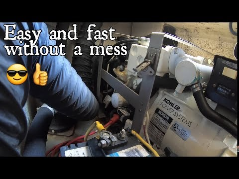 How to change the oil on a generator.