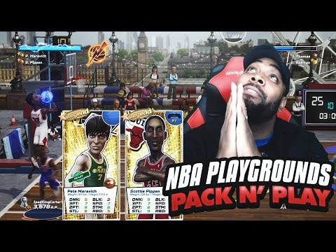 PACK N' PLAY WITH LEGEND SCOTTIE PIPPEN & PISTOL PETE! NBA Playgrounds Online Gameplay Ep. 12 - 동영상