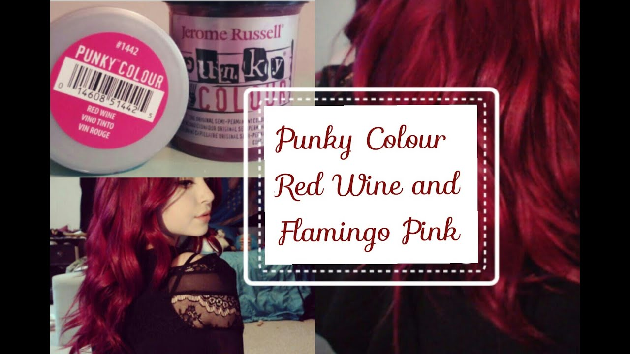 Dark Redpink Hair Using Punky Colour Red Wine And Flamingo Pink