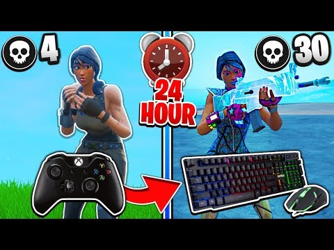 Switching From Controller To Keyboard And Mouse For 24 Hours! (Fortnite Progression)