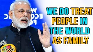 We Do Treat People In the World As Family, Says Modi | WEF Summit 2018 | Mango News
