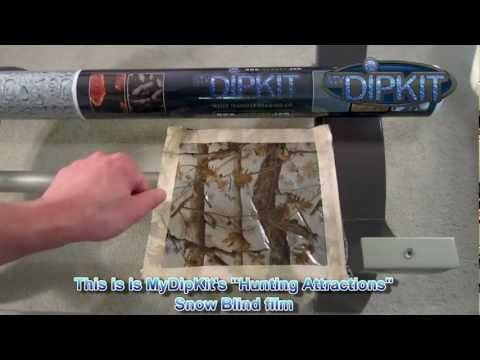 How to use MyDipKit Part 3 - which side goes up / down diy hydrographics