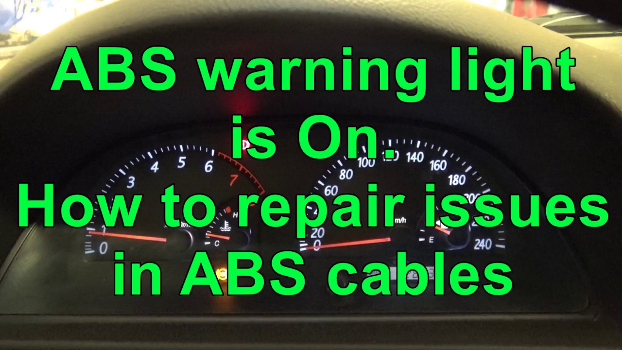 hight resolution of how to reset abs warning light abs warning light is on issue in cables