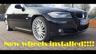 """Bmw e90 wheels Installed! keskin kt 17  19"""""""