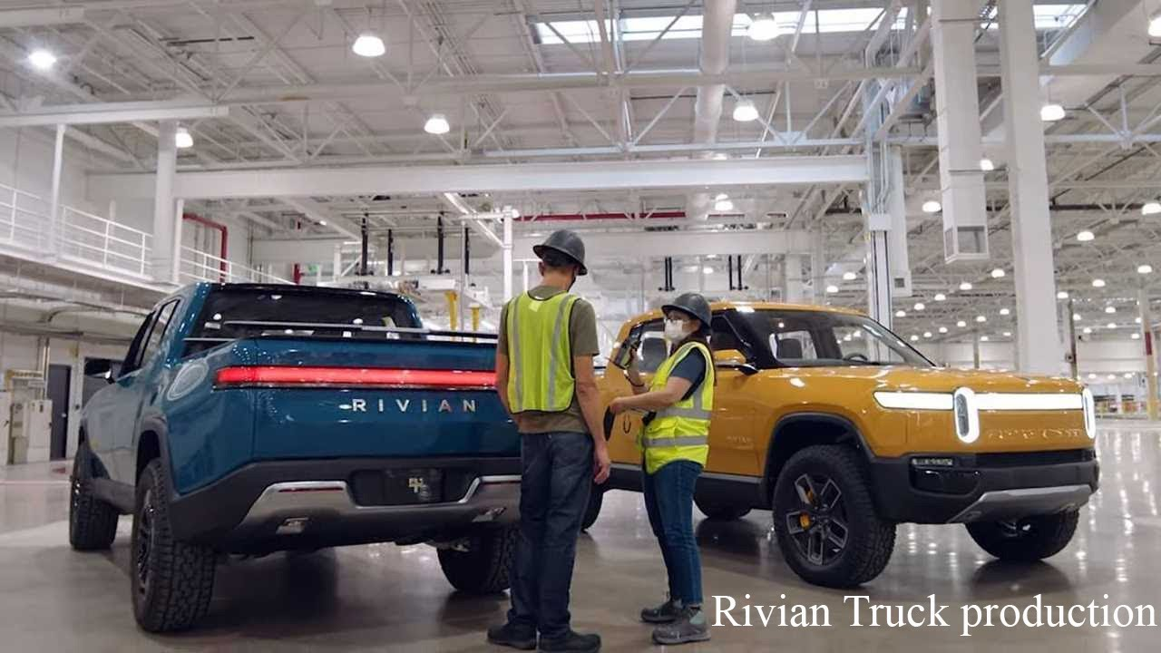 2021 New Rivian R1T USA Electric EV Pickup Trucks - Production - Electric Pickup 2021