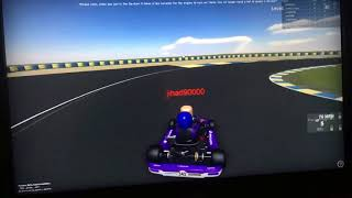 Video evidence of lap record Workspace Go-Karting ROBLOX 0:54.108