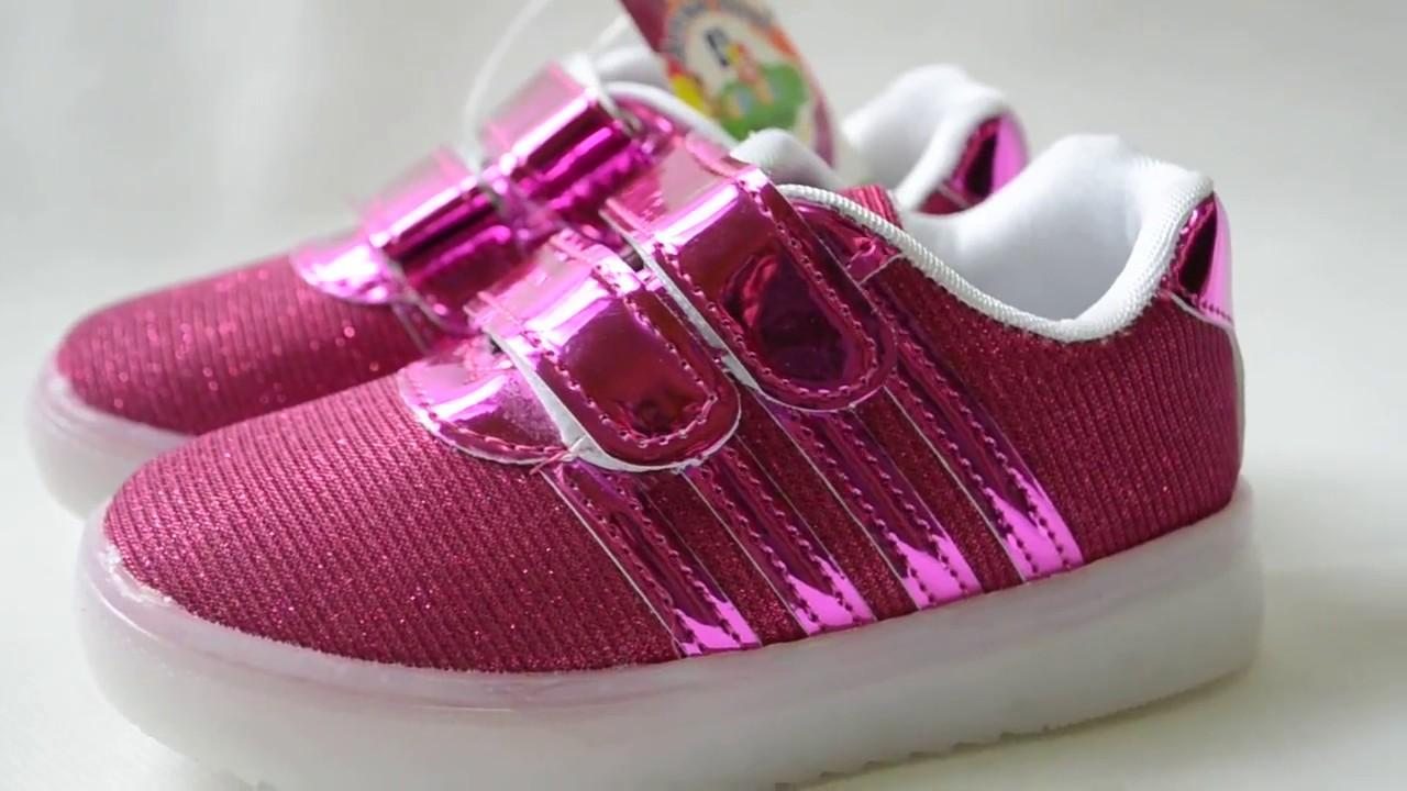 Детские кроссовки Adidas фиолетовые - YouTube