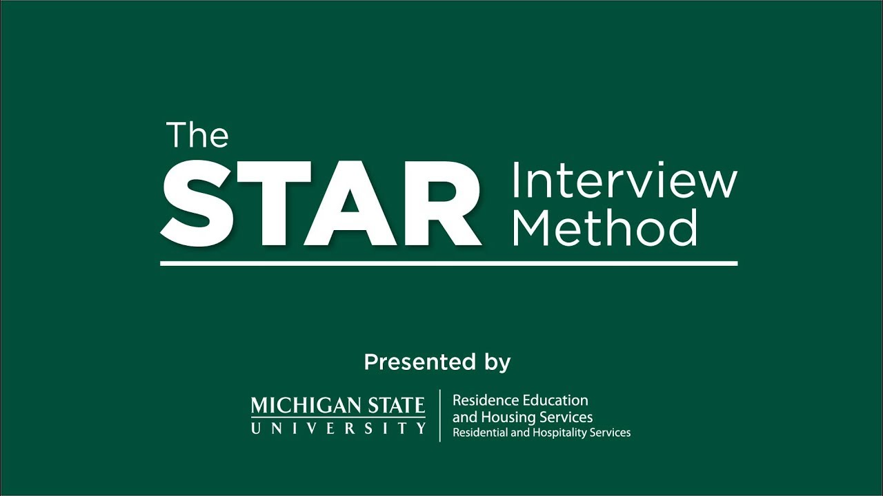 star interview method rehs msu