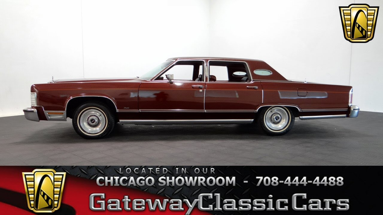 1978 Lincoln Town Car Gateway Classic Cars Chicago #987 - YouTube