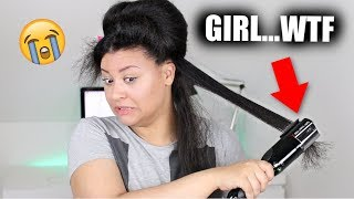 So I Tried The Split End Trimmer On My THICK Hair... 😨