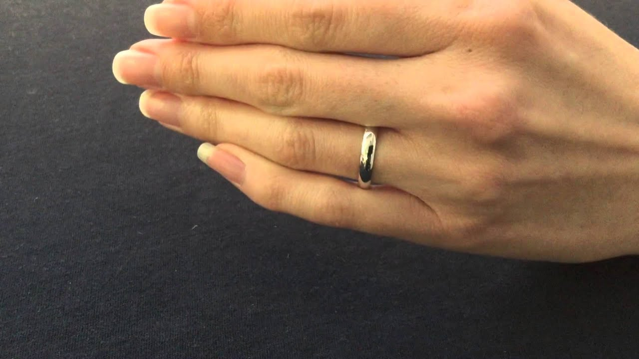 4mm Wedding Ring Court Shape D Shape View YouTube