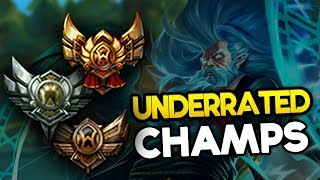Underrated Champions to escape low elo for every role (League of Legends)