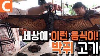 식용 박쥐, 보아뱀, 쥐고기를 파는 인도네시아의 시장