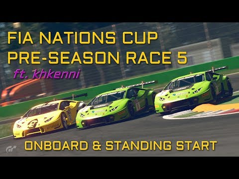 STANDING STARTS ?! FIA PRE-SEASON RACE 5 - NATIONS CUP ft. khkenni - GT SPORT