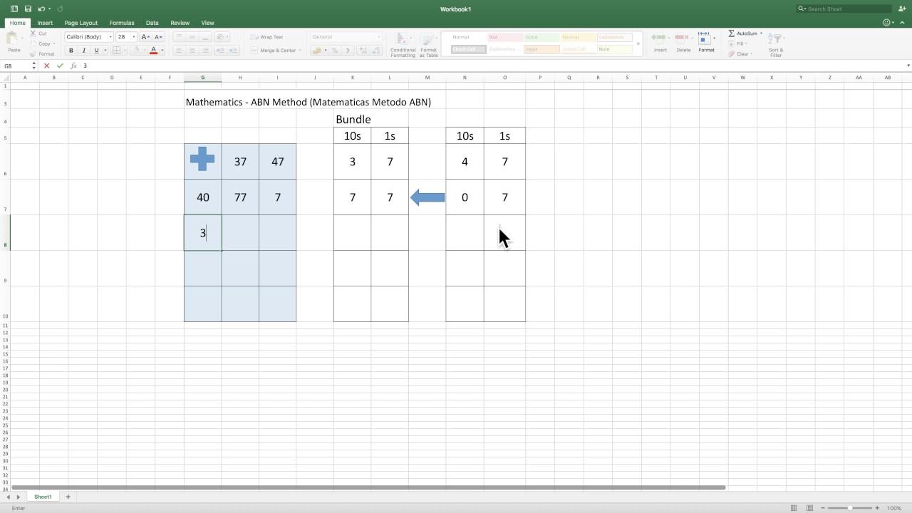 Matematicas Metodo ABN (Mathematics - ABN Method) Adding