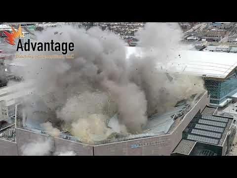 The Bradley Center Demo  (video by Advantage Blasting)
