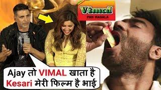 Akshay Kumar SLAMS Reporter Comparing KESARI Movie With Ajay Devgan KESAR Ad