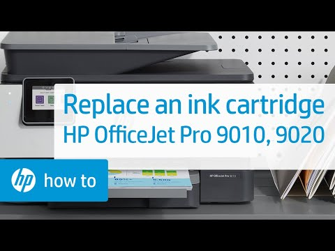 Replace the Ink Cartridge   HP OfficeJet Pro All-in-One 9010, 9020, 9010e, 9020e Printers   HP