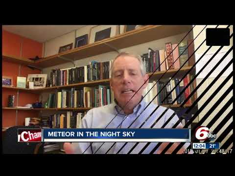 Possible meteor sightings over central Indiana late Wednesday night