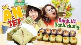 MUKBANG ĂN BÁNH CHƯNG BÁNH TÉT | TẾT NÀY ĂN GÌ? | Vietnamese Food | THÁNH ĂN TV