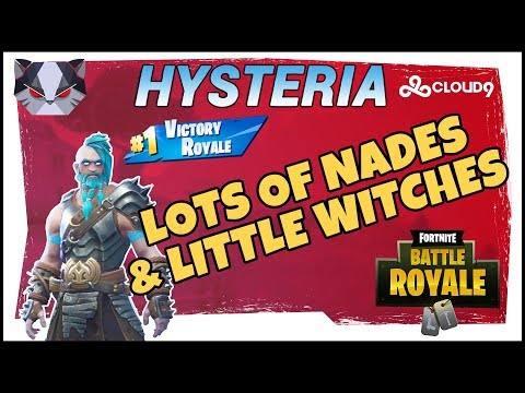 Hysteria  Fortnite Battle Royale   Season 5  Lots of Nades & Little Witches  Duos with Roxy