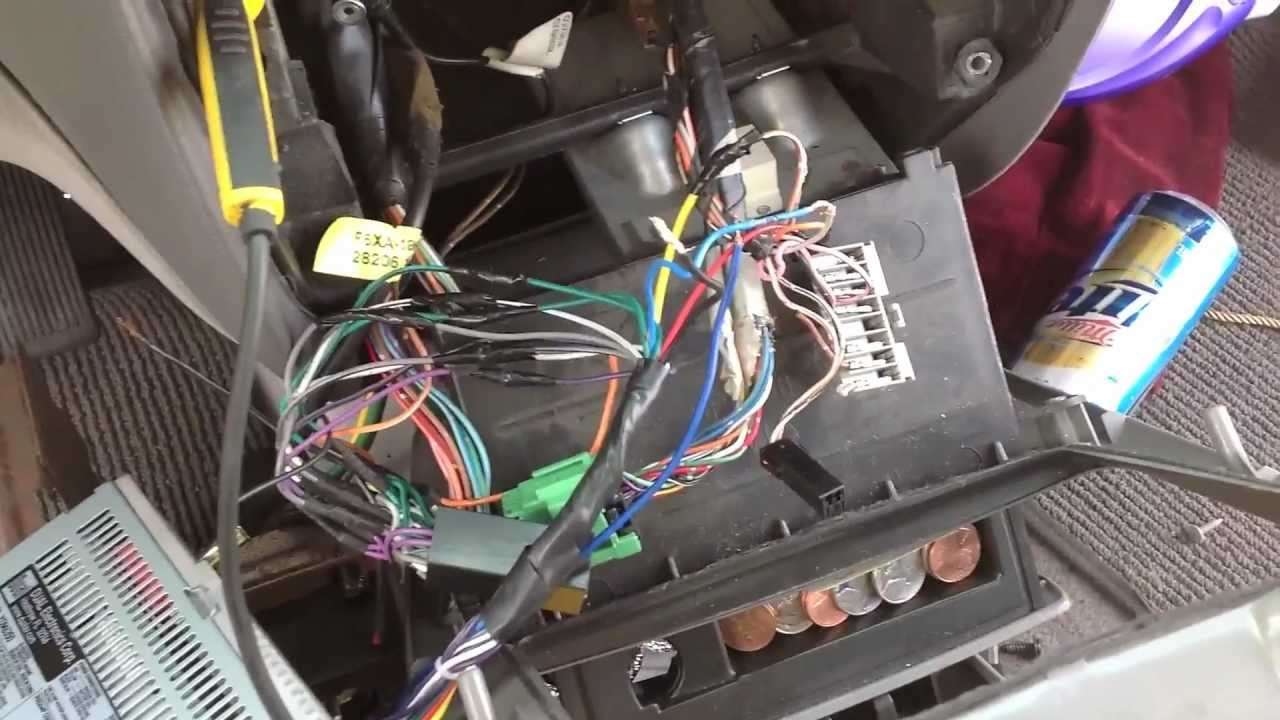 nissan quest 1997 deck install audio troubleshooting - YouTube