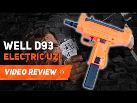 WELL D93 UZI PISTOL AIRSOFT BB GUNS REVIEW