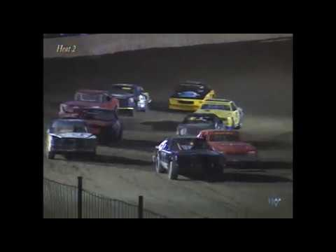 Full race from the Factory Stock division at Hartford Speedway Park in MI May 24, 2002. - dirt track racing video image