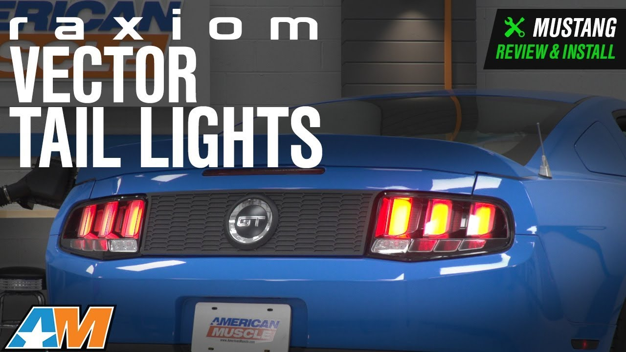 2010 2017 Mustang Raxiom Vector Tail Lights W White Diffusers Review Install